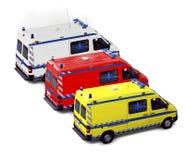 Grupo da ambulância Imagens de Stock Royalty Free