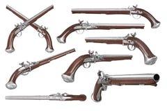 Grupo da arma da arma da pistola Imagens de Stock
