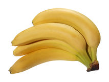 Grupo da banana isolado Fotografia de Stock