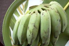 Grupo da banana verde Foto de Stock Royalty Free