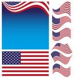 Grupo da bandeira americana Foto de Stock Royalty Free