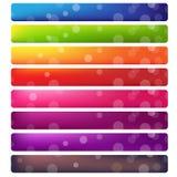 Grupo da bandeira da site Imagens de Stock