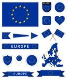 Grupo da bandeira da União Europeia Fotos de Stock