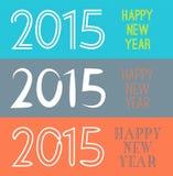 Grupo da bandeira 2015 do ano novo feliz Ilustração Imagens de Stock