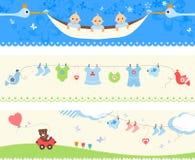 Grupo da bandeira do bebê Fotos de Stock Royalty Free