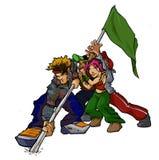 Grupo da bandeira do Raver fotografia de stock