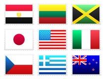 Grupo da bandeira nacional Imagens de Stock Royalty Free