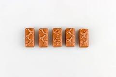 Grupo da barra de chocolate Imagem de Stock