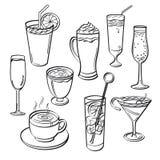 Grupo da bebida ilustração royalty free