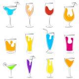 Grupo da bebida do cocktail e da bebida Fotografia de Stock Royalty Free