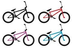 Grupo da bicicleta de Bmx Imagem de Stock