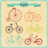 Grupo da bicicleta, fundo do vetor Fotos de Stock Royalty Free