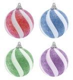 Grupo da bola do Natal do brilho ilustração stock