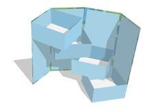Grupo da caixa Web do vetor Foto de Stock