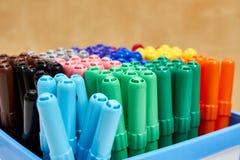 Grupo da caneta com ponta de feltro da cor fotografia de stock royalty free