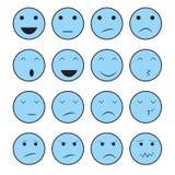Grupo da cara do ícone Foto de Stock Royalty Free