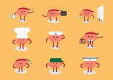 Grupo da carreira dos desenhos animados do cérebro Fotografia de Stock