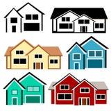 Grupo da casa Imagem de Stock