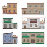 Grupo da casa e da construção Fotos de Stock Royalty Free