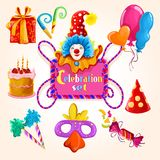 Grupo da celebração colorido Fotografia de Stock