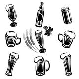 Grupo da cerveja ilustração stock