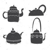 Grupo da chaleira de chá Foto de Stock