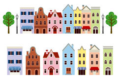 Grupo da cidade, isolado Imagem de Stock