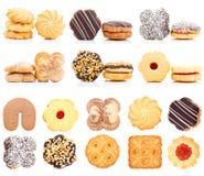 Grupo da coleção das cookies imagens de stock