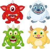 Grupo da coleção do monstro dos desenhos animados Imagens de Stock