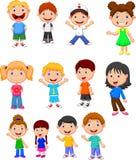 Grupo da coleção dos desenhos animados das crianças Imagens de Stock