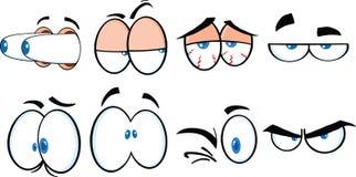 Grupo da coleção dos olhos 2. dos desenhos animados Fotos de Stock