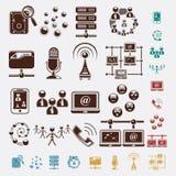 Grupo da conexão de ícones ilustração royalty free
