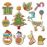 Grupo da cookie do pão-de-espécie ilustração royalty free