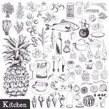 Grupo da cozinha Imagem de Stock Royalty Free