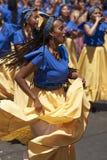 Grupo da dança de Afrodescendiente - Arica, o Chile Foto de Stock Royalty Free