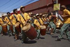 Grupo da dança de Afrodescendiente - Arica, o Chile Imagem de Stock