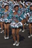 Grupo da dança de Caporales - Arica, o Chile Foto de Stock Royalty Free