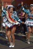 Grupo da dança de Caporales - Arica, o Chile Fotos de Stock Royalty Free