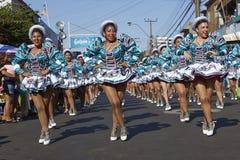 Grupo da dança de Caporales - Arica, o Chile Imagens de Stock Royalty Free
