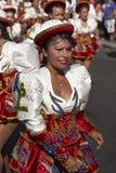 Grupo da dança de Caporales - Arica, o Chile Imagem de Stock