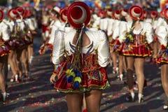 Grupo da dança de Caporales - Arica, o Chile Imagens de Stock