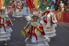 Grupo da dança de Morenada - Arica, o Chile Imagens de Stock Royalty Free