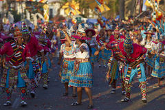 Grupo da dança de Tinku - Arica, o Chile Fotografia de Stock