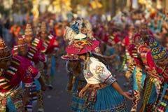 Grupo da dança de Tinku - Arica, o Chile Imagem de Stock Royalty Free