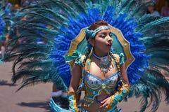 Grupo da dança de Tobas - Arica, o Chile Foto de Stock Royalty Free