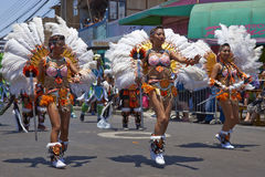 Grupo da dança de Tobas - Arica, o Chile Fotografia de Stock Royalty Free