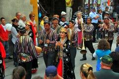 Grupo da dança de Uzbekistan Fotos de Stock Royalty Free
