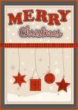 Grupo da decoração do Natal ilustração royalty free