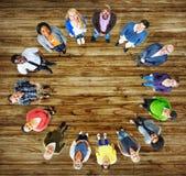 Grupo da diversidade de executivos da comunidade Team Concept foto de stock royalty free
