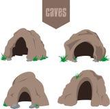 Grupo da entrada da caverna de Brown ilustração do vetor